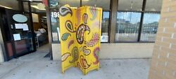 Paisley Paradise Solid Wood 3 Panel Room Screen Divider Hand Painted 72×60
