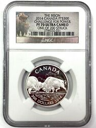2014 Canada Pt 300 The Bison - Challenge For Power - Ngc Pf70 Ultra Cameo