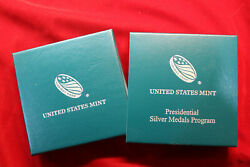 United States Mint Presidential Silver Medals Packaging, No Coin, Van Buren