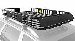 Xcar Roof Rack Carrier Basket Rooftop Cargo Carrier With Extension Black Car Top
