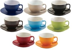 Price And Kensington Extra Large Soup Mugs And Saucers Cappuccino Mugs Bright Colour