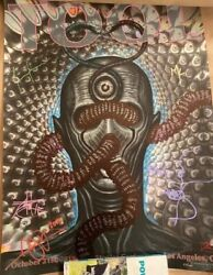 Tool Poster Los Angeles La 2019 10-21 Chet Zar Signed Autographed By The Band