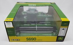 John Deere S690 Combine With Both Heads 3 Authentics Series By Ertl 1/64 Scale