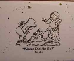 Where Did He Go 76546 Set Of Four New In Box Dept 56 Snowbabies Rare Pewter