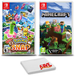 Pokemon Snap And Minecraft - Two Game Bundle For Nintendo Switch