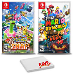 Pokemon Snap And Super Mario 3d World - Two Game Bundle For Nintendo Switch