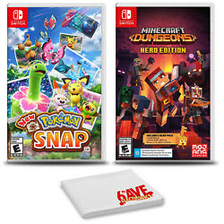 Pokemon Snap And Minecraft Dungeons - Two Game Bundle For Nintendo Switch