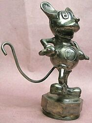 Disney Mickey Mouse Automobile Mascot Radiator Cap 1920s Model T Ford Model A