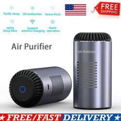 Room Car Air Purifier Hepa Filter Home Smoke Cleaner Indoor Dust Odor Remover Us