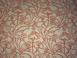 Orange Upholstery Fabric 10m Voyage Sketched Woven Art Deco Curtains
