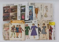 Vintage Sewing Patterns Lot Of 100, 50's To 90's Cut, 1057r