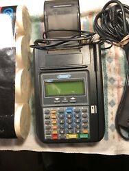 Hypercom T7 Plus Credit Card Machine And Power Supply 12 Rolls Print Out Paper