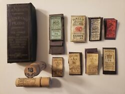 Vintage Sewing Needle Books 1930 And Wooden Needle Holders 1910. Germany And England