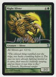 Silver Signed Might Sliver Mp Time Spiral Artist Jeff Miracola 2006 Mtg Magic