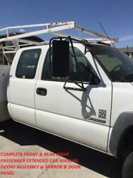 99-07 Silverado Right Passenger Front And Rear Extended Cab White Manual Doors