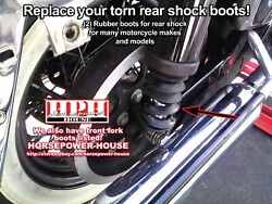 2 Black Boots Gaiters On Rear Shock Absorber Covers See Specs Dimensions