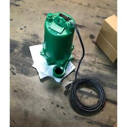 Myers Myh50-21 1/2 Hp Submersible Sewage Pump/w Power Cord, 230/60/1 Rpm3450