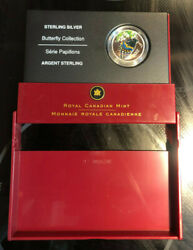 2006 Royal Canadian Mint-sterling Silver-butterfly Collection Coin Sealed In Cas