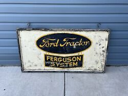 Rare Early Original Ford Dealership Tractor Sign-incredible History- Read Wow