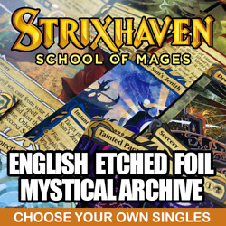 English Strixhaven Mystical Archive Etched Foil - Magic The Gathering