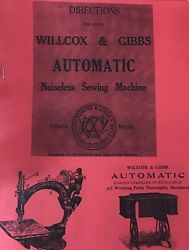 Wilcox And Gibbs Sewing Sewing Machine Instruction Manual Enlarged Copy