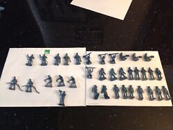 Lot Of 35 Marx Cape Canaveral Or Kennedy Playset Ground Crew Figures Reissues.