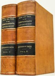 1881 Rise And Fall Of The Confederate Government First Edition Civil War Leather