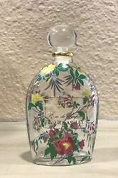 Laura Ashley Factice Perfume Bottle No1 Flower Decorated 3 1/2andrdquoexc Cond