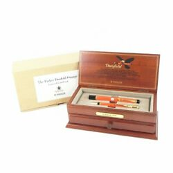 Parker Duofold Orange Fountain Pen K18 And Mechanical Pencil Set Limited Unused
