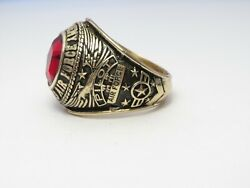 @ Solid 10k Gold Ring Us Air Force Ring Usaf Academy Ring 1972 Size 11