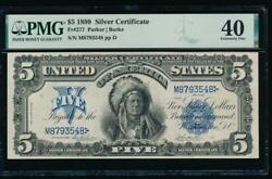 Ac Fr 277 1899 5 Silver Certificate Pmg 40 Chief Note