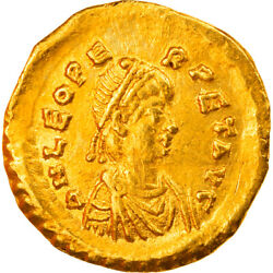 [858783] Coin Leo I Tremissis 471-473 Constantinople Au55-58 Gold