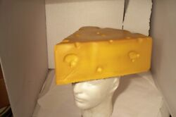 Vintage 1996 Green Bay Packers Cheese Head Foam Hat Youth Size Scofield Souvenir