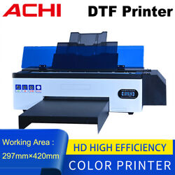 Dtf Printer For T-shirt Direct To Film Epson 1390 Head Flatbed Embossed 3d Print