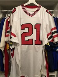 Authentic Mitchell And Ness Deion Sanders Rookie Jersey /600 Brand Nee Sz.48