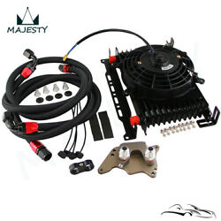 13 Row An10 Oil Cooler Kit For Bmw Mini Cooper S R56 1.6l 06-12+7 Electric Fan