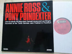 Annie Ross And Pony Poindexter Original German Foc Saba Stereo 60s Lp Nm