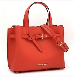 MICHAEL KORS EMILIA SMALL SATCHEL DARK SANGRIA RED NEW WITH TAGS $138.00
