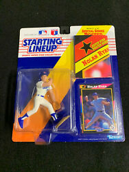 Starting Lineup Sports Collectibles 1991 Nolan Ryan With Poster Rangers🔥⚾️