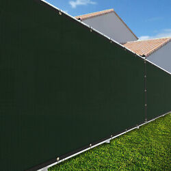 6ft Large 170gsm Fence Windscreen Privacy Screen Shade Cover Mesh Garden-green