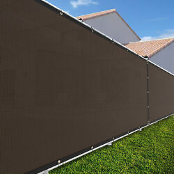 6ft Large 170gsm Fence Windscreen Privacy Screen Shade Cover Mesh Garden-brown