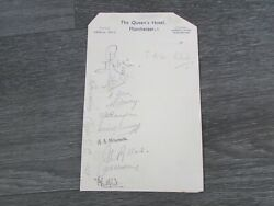 Northumberland County Cricket Club 1939 Original Hand Signed By 11 Letterhead