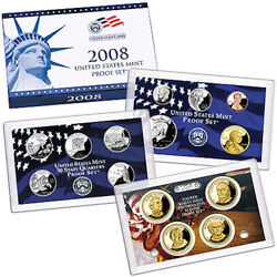 2008 Proof Set United States Us Mint Original Government Packaging Box And Coa
