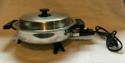 Lifetime Webalco Stainless Steel 11 Electric Skillet Model 7209 With Lid