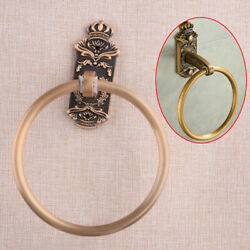 Bronze Carved Small Bathroom Hand Towel Ring Rack Wall Mounted Towel Holder New