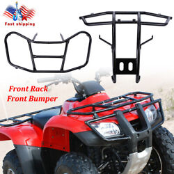 Front Rack Carrier And Front Bumper For Honda Trx 250 Trx250 Te Tm Recon 250 05-16
