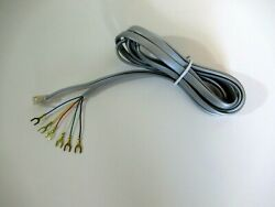 Vintage telephone modular wall cord 7ft antique phones Gray cord 6 conductor