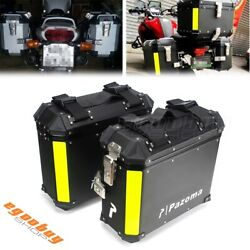 Quick Release Motorcycle Trunk Tool Box Luggage Side Saddle Bags For Harley Bmw
