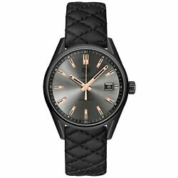 Tag Heuer Women's War1113.fc6392 Carrera Black Quilted Leather Watch