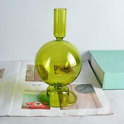 Glass Candle Holder Taper Candlestick Holders Candle Sticks for Wedding